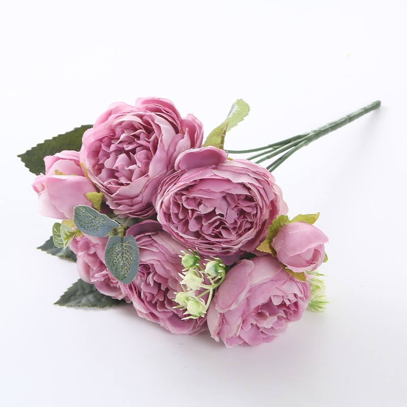 bouquet-roses-artificielle-violet