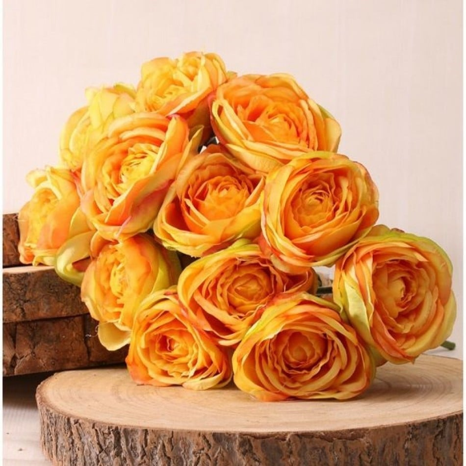 bouquet-de-rose-jaune-40cm