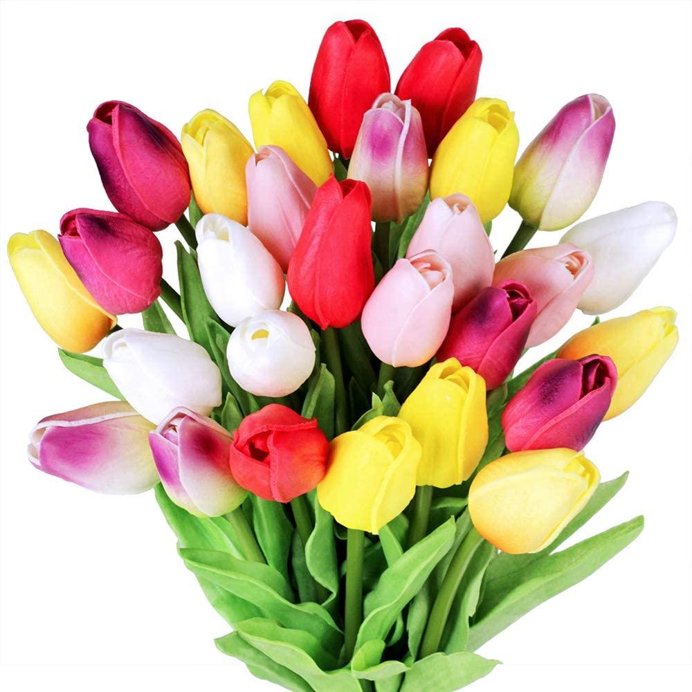 tulipes-artificielles-couleurs-mixtes